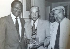 Sidney Poitier, Roland Watts, and August Wilson